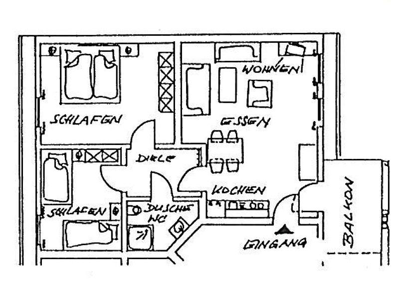 ferienhaus meyer ferienwohnung 5 mit 60 qm f r 2 4 personen. Black Bedroom Furniture Sets. Home Design Ideas